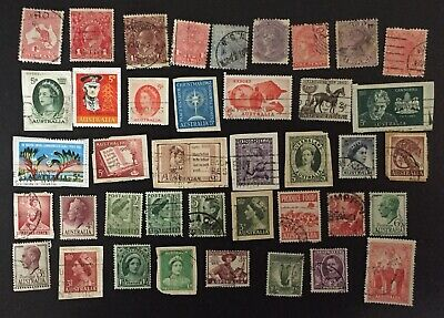 Australian Mixed Pre-Decimal Used Stamps X 40