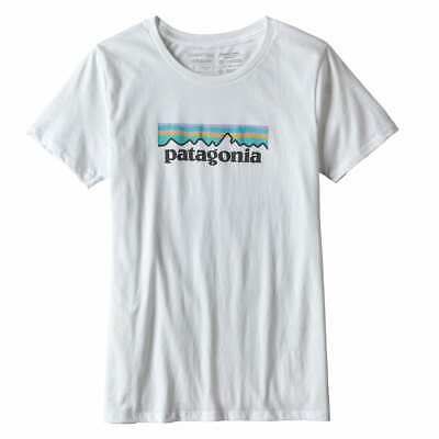BANK HOLIDAY SALE! Patagonia Womens Pastel P-6 Logo Cotton T-Shirt  White