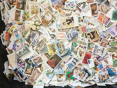 2000 Australia Used Predecimal and decimal Stamps Off Paper Kiloware