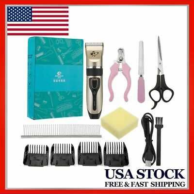 Pro Pet Dog Grooming Electric Clippers Kit Set For Dog Cat Hair Trimmer Groomer