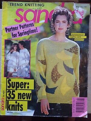 SANDRA May 1991 - Vintage Knitting Magazine, 33 Patterns, mostly for Women