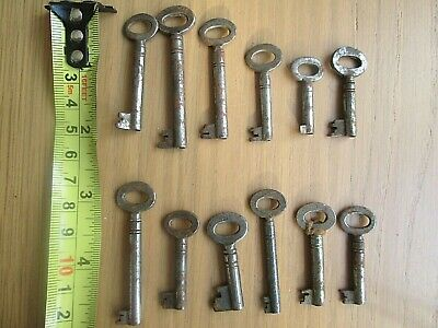 12 Antique & Vintage Cabinet caddy  small chest keys b
