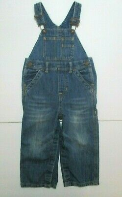 Toddler Boys Girls Baby Gap 1969 Blue Denim Overalls Outfit Size 18-24 Months