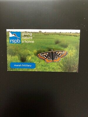 Marsh Fritillary RSPB Pin Badge Campfield Marsh Special GNAH - Wildlife Charity