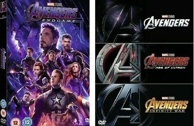 4 Movie Collection - Avengers Endgame + Trilogy [ Ultron, Infinity War] DVD NEW
