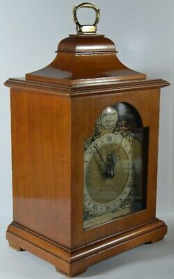 Lovely Vintage Mechanical 8 Day Rotherham Mahogany Bracket Mantel Clock