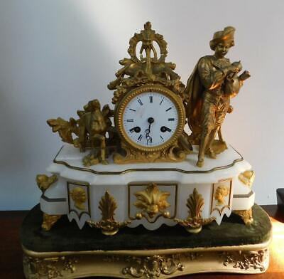 fancy french mantel clock for restore