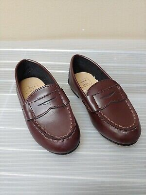 Boys Janie & Jack Loafers Size 6 Toddler size Leather Sole