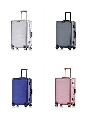 Carry On Luggage Aluminum Frame Hardshell Durable PC Spinner Suitcase TSA 20