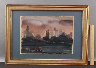 Authentic Original Donald Purdy Watercolor Painting, Central Park, New York City