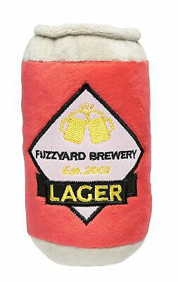 New! Lager Beer Can Dog Toy Plush With Squeaker Non-Toxic Washable