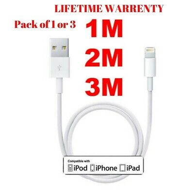 Genuine 1M 2M 3M USB Lightning Charger Lead Cable For Apple iPhone/ iPad