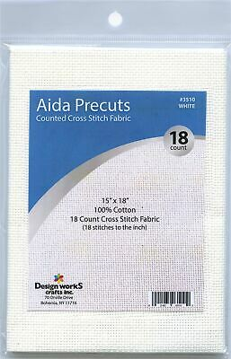 3 Pack RTO Aida 18 Count 39X45cm-White