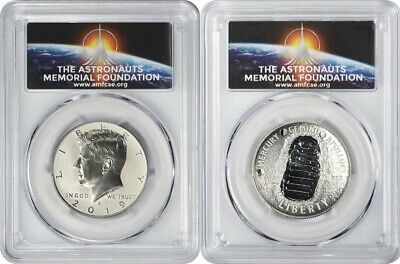 2019-S Apollo 11 50th Ann 2-Coin Proof Half Set PCGS PR70DCAM FS AMF Logo