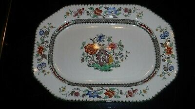 Copeland Spode Chinese Rose Patt Serving Platter Dish Size 12.5 X 9""