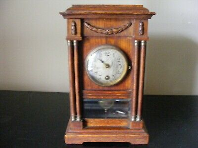 Antique H.a.c. Wurttemberg Germany Mantel Clock - Working Order