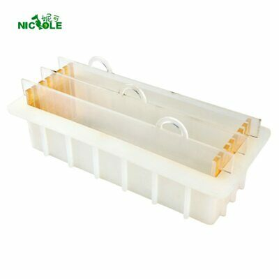Nicole Rendering Soap Silicone Mold with Transparent Vertical Acrylic Clapboard