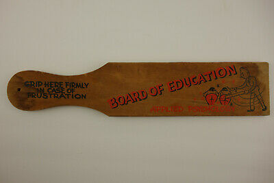 Board of Education Applied Psychology In Case Of Frustration Wood Paddle Stick