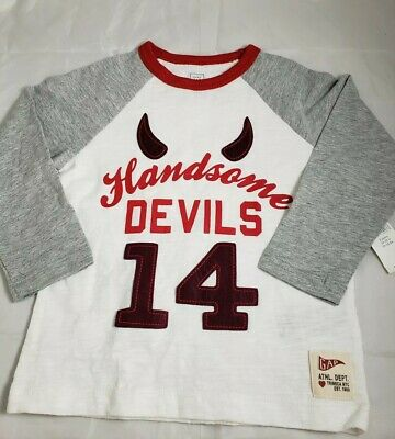 NWT Baby Gap Toddlers Boys Long Sleeve Shirt Top 2T Handsome Devils Athlete Dept
