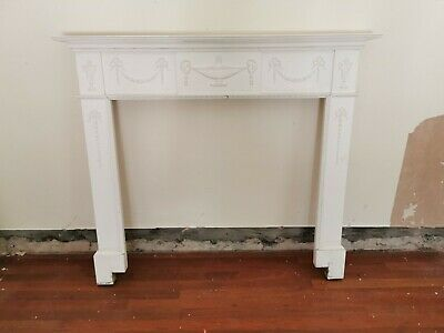 Victorian Wooden Antique Fire Surround Old Mantel Reclaimed Architectural Ornate