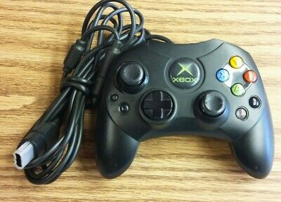 Official Microsoft Original XBOX Controller S Black Tested Works