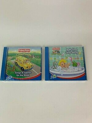 Fisher Price Lot of 2 - Little People: Songs and Games for the Road & Bath Time