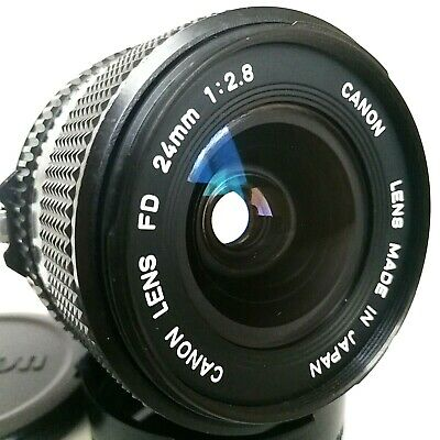 [N. Mint] Canon New FD NFD 24mm F2.8 Wide Angle MF Lens FD Mount From Japan #51