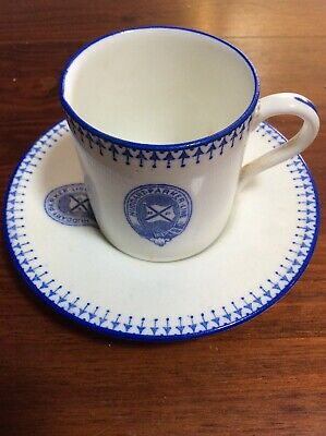 Huddart Parker China Coffe Cup And Saucer
