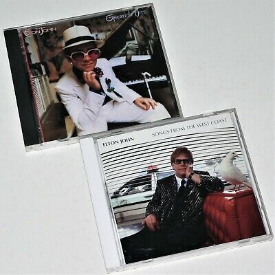 ELTON JOHN ~ 2 CD Lot ~ GREATEST HITS & SONGS FROM THE WEST COAST ~ VG Best of..