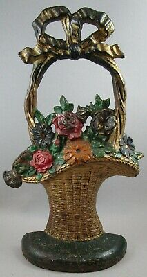 Vintage Hubley # 69 French Basket Doorstop / Door Stop