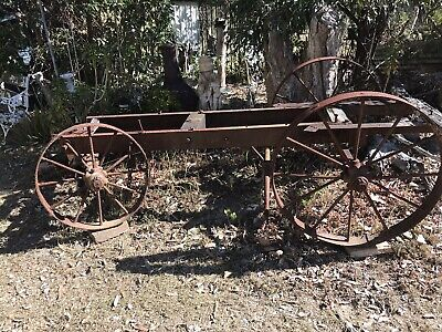 Cast Iron Antique Farm Machinery Ornament Cart