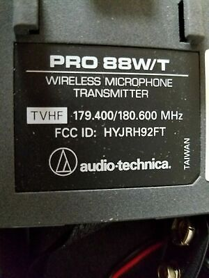 AUDIO-TECHNICA PRO 88W/T WIRELESS MICROPHONE TRANSMITTER for mic