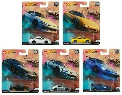 HOT WHEELS - STREET TUNERS 2019 Car Culture Complete Set of 5 Cars