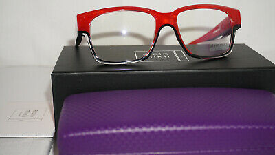 Alain Mikli Eyeglasses RX Marbled Red Black Crystal A03044 C020 53 16 145