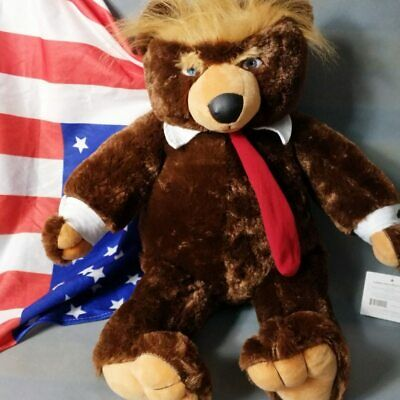 60cm Donald Trump Bear Plush Toys New Cool USA President Collection Dolls gift