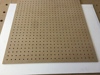 6mm MDF Wooden Pegboard 25mm Hole Centres With 6mm Holes 1000mm X 600mm + Custom