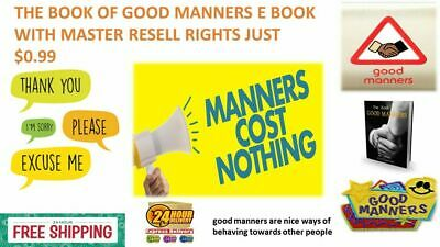 The Book Of Good Manners E Book Pdf With Master Resell Rights Just $0.99