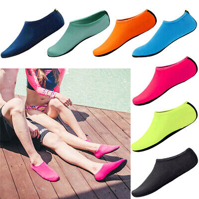 Unisex Aqua Shoes Men Womens Kids Water Socks Slip On Sea Wet Beach Swim Sur UK
