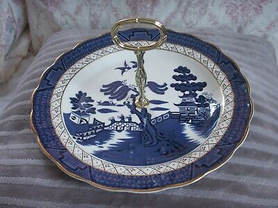 Royal Doulton Booths The Majestic Collection Real Old Willow Cake Plate