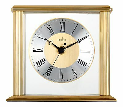 Acctim 36248 Hamilton Mantel Clock, Brass Effect