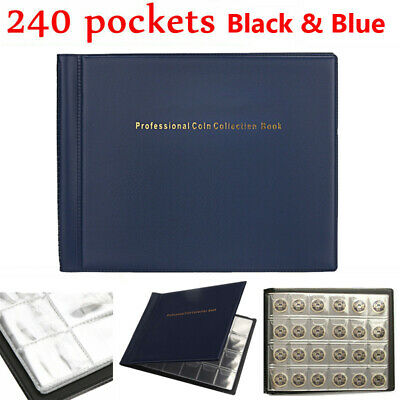 2X 240 Coin Holders Collection Storage Money Penny Pockets Album Book Collecting