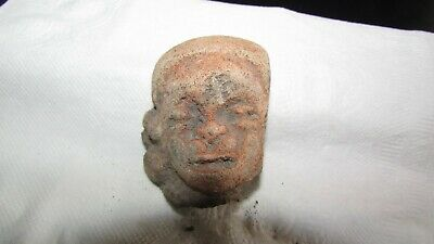 Pre-Colombian Terracotta Head (700 B.C - 1200 A.D)