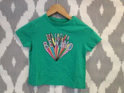 NEXT Girls Green Slogan T-Shirt with Sequin Detail - BNWT - Aged 4 - (991)
