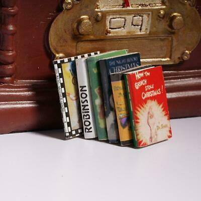 1:12 Hot Wooden Doll House Miniature Books For Dollhouse Kits Room Super X2G0