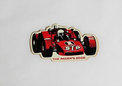 1968 Stp Vintage The Racers Edge Racing Car Sticker Decal Indy 500 Formula One