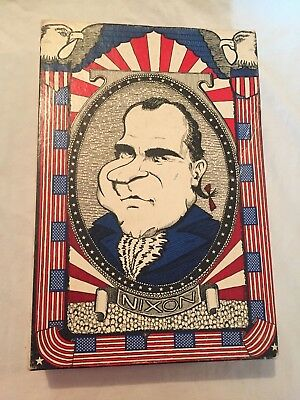 VINTAGE 1970 Richard Nixon Agnew Two Faced Jigsaw Puzzle in BOX