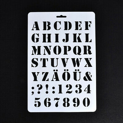 Lettering Stencils, Letter and Number Stencil, Painting Paper Craft Alphabet HY1