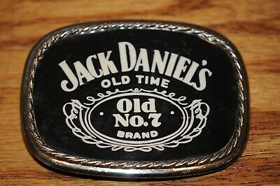 Jack Daniels Old No. 7 Belt Buckle made in USA Tennessee Whiskey Solid Brass Old