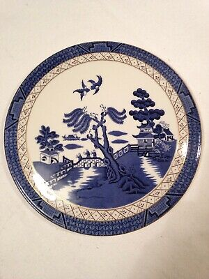 Vintage Royal Doulton Booths Real Old Willow TC 1126 Cheese Board / Cake Base.