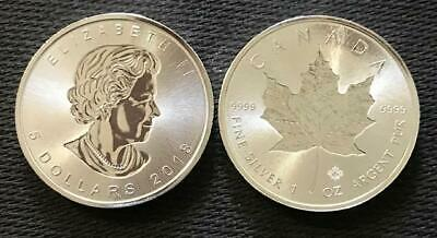 One Ounce .9999 Fine Silver - 2018 Canadian Maple Leaf